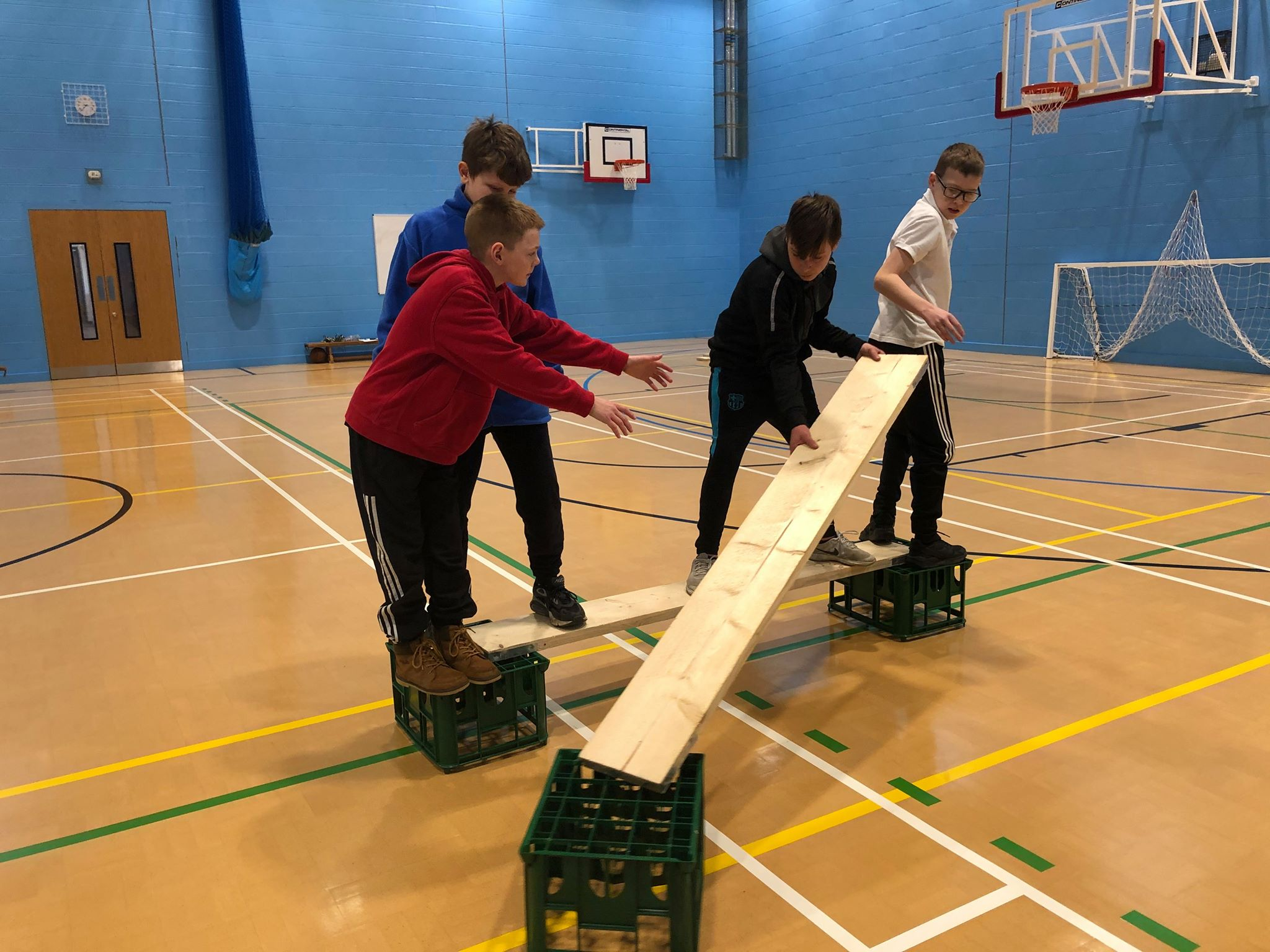Children performing problem solving task